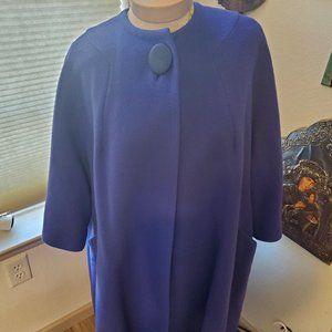 vintage purple wool coat (1950's)